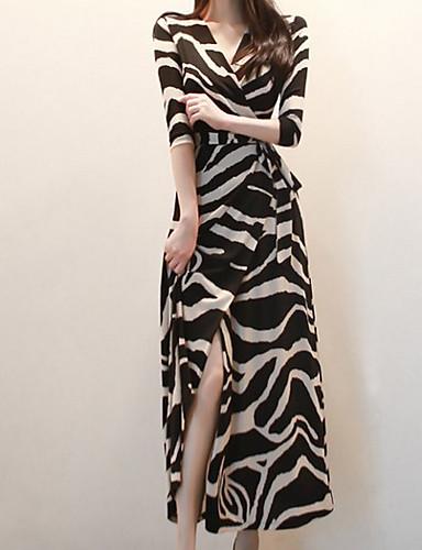 levne Maxi šaty-Dámské Pouzdro Šaty - Proužky Maxi