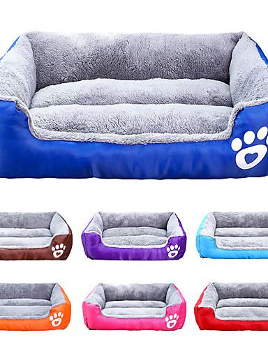 preiswerte Hundebetten & Decken-Katze Hund Matratzen Unterlage Betten Bettdecken Stoff Baumwolle Haustiere Matten & Polster Solide Wasserdicht Niedlich Schwarz Gepunktet Leopard