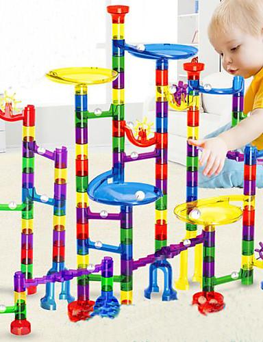preiswerte Spielzeug & Hobby Artikel 1-Marble Run Race Construction Murmelspiele Murmelbahn Dampf Spielzeug Kunststoff Kinder Unisex Jungen Mädchen Spielzeuge Geschenk 38-122 pcs