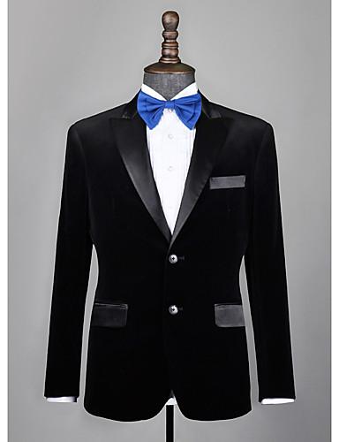 cheap Men's Custom Suits-Black velvet custom tuxedo