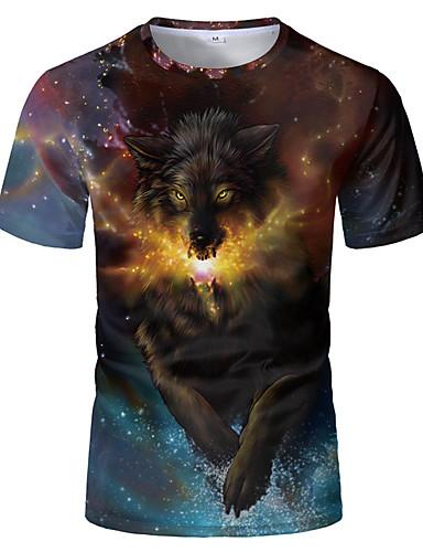 Homens Camiseta 3D / Arco-Íris Marron