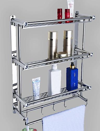 preiswerte Accessoires für das Bad-Badezimmer Regal Kreativ Moderne Metal 1pc - Bad Wandmontage