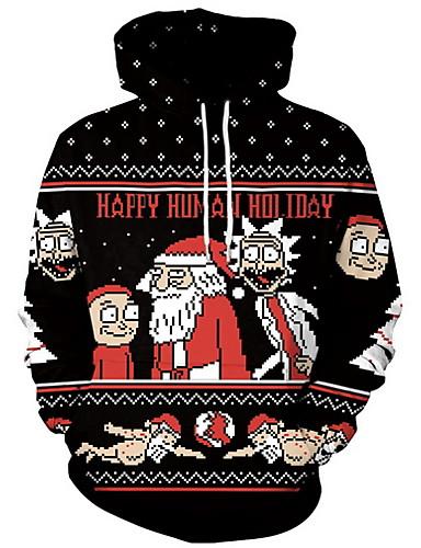 preiswerte Weihnachten-Herrn Grundlegend Kapuzenshirt Geometrisch