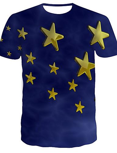Homens Camiseta 3D Azul