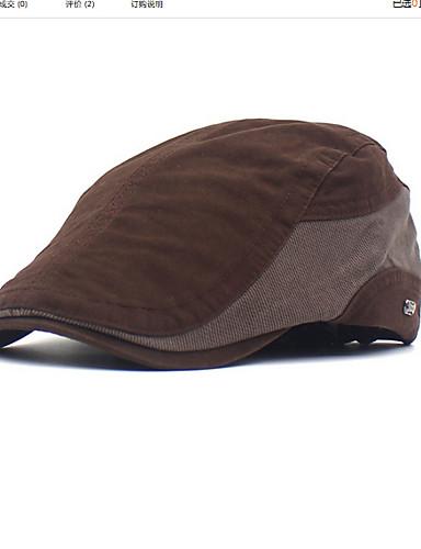 abordables Chapeaux Homme-Homme Polyester Basique Beret Bloc de Couleur Noir Marron Vert