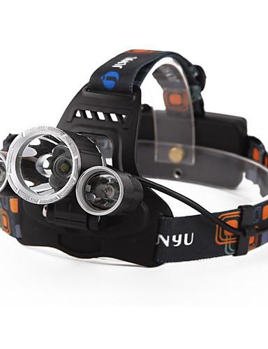 povoljno ljetni popust-Svjetiljke za glavu Svjetlo za bicikle Vodootporno Može se puniti 4800 lm LED LED 3 emiteri 4.0 rasvjeta mode s baterijama i punjačem Vodootporno Može se puniti Night Vision Kampiranje / planinarenje