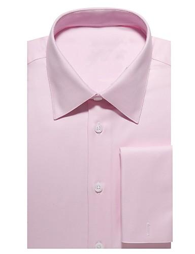 お買い得  メンズスーツ-ライトピンクのツイルコットンシャツ