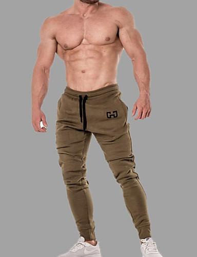 preiswerte Jogginghose-Herrn Sport / Grundlegend Jogger / Jogginghose Hose - Solide / Geometrische Muster Sportlich / Patchwork Schwarz Armeegrün Rote US34 / UK34 / EU42 US36 / UK36 / EU44 US38 / UK38 / EU46