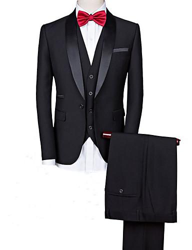 cheap Men's Custom Suits-Black Blend custom tuxedo