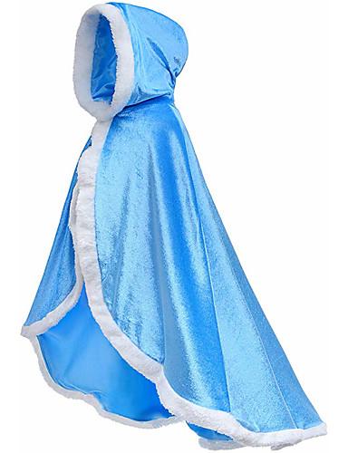 cheap Movie & TV Theme Costumes-Princess Fairytale Elsa Dress Cloak Flower Girl Dress Kid's Girls' A-Line Slip Cover Up Birthday Christmas Halloween Masquerade Festival / Holiday Flannelette Purple / Yellow / Blue Carnival Costumes