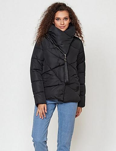 preiswerte Damen Überbekleidung-Damen Solide Gefüttert, Polyester Schwarz / Weiß / Rosa M / L / XL