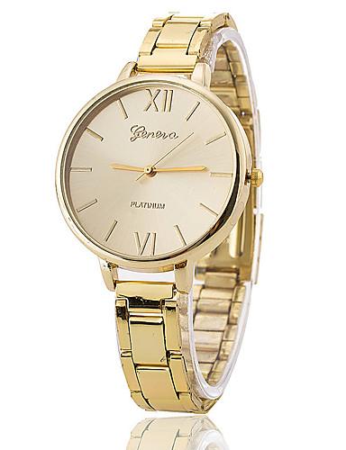 Mulheres Relógios de Quartzo Casual Elegante Dourada Lega Chinês Quartzo Dourado Relógio Casual 1 Pça. Analógico Um ano Ciclo de Vida da Bateria