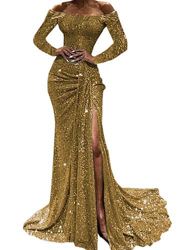 levne Maxi šaty-Dámské Základní Bodycon Šaty - Jednobarevné Maxi