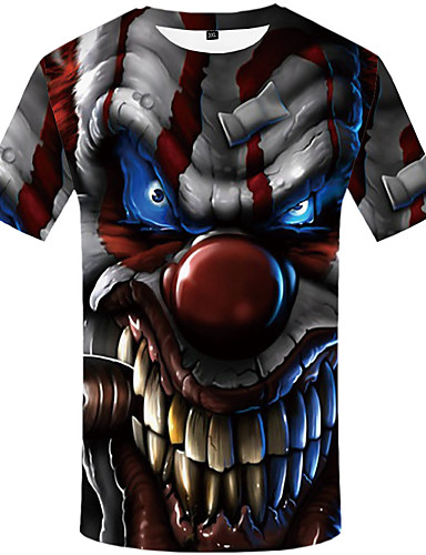 Homens Camiseta 3D Marron