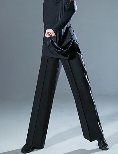 cheap Latin Dancewear-Latin Dance Pants Ruching Men's Performance Natural POLY