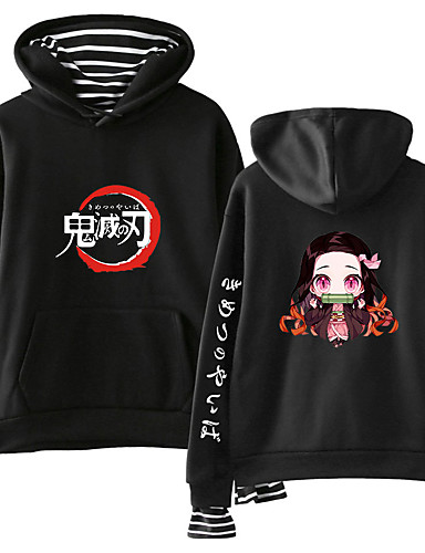 cheap Everyday Cosplay Anime Hoodies & T-Shirts-Inspired by Demon Slayer: Kimetsu no Yaiba Kamado Nezuko Cosplay Costume Hoodie Cotton Fibre Print Printing Hoodie For Women's / Men's