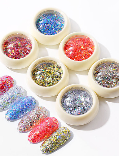 cheap New Arrivals-1 pcs Safety / New Design / Creative Plastics Loose powder Sequins For Finger Nail Romantic Series Fashion nail art Manicure Pedicure Daily / Festival Trendy / Fashion