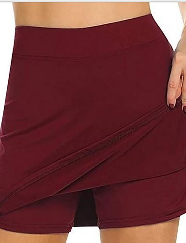 Недорогие Женские брюки и юбки-Жен. Классический Шорты Брюки - Однотонный Завышенная Винный Белый Черный S / M / L
