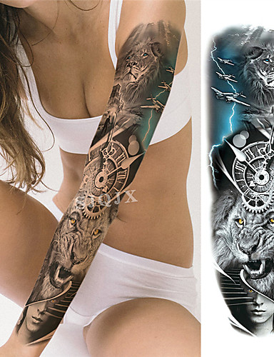 cheap New Arrivals-1 pcs Temporary Tattoos Water Resistant / Waterproof / Safety / Best Quality Face / Body / Hand Water-Transfer Sticker Body Painting Colors