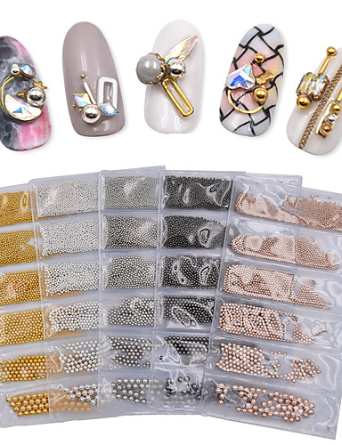 cheap New Arrivals-1 pcs Mini Style / Multi-Type Metal Alloy Nail Jewelry For Finger Nail Jewelry Series nail art Manicure Pedicure Daily Artistic / Classic