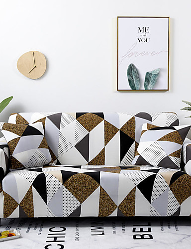 cheap Sofa Cover-2019 New Stylish Simplicity Print Sofa Cover Stretch Couch Slipcover Super Soft Fabric Retro Hot Sale Couch Cover