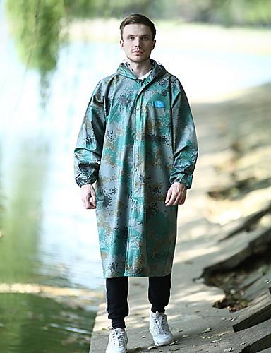 رخيصةأون ملابس واقية-رجالي معطف مطر لرياضة المشي في الهواء الطلق مموه مقاوم للماء ضد الهواء معطف واق من المطر أخضر داكن