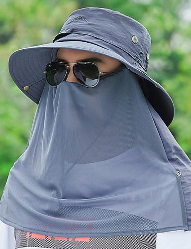 رخيصةأون ملابس واقية-أخضر داكن رمادي غامق كاكي قبعة شمسية لون سادة رجالي بوليستر,أساسي