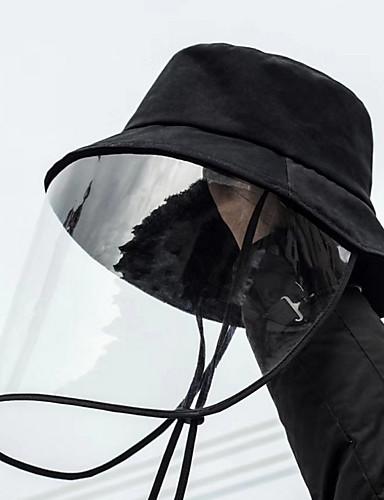 رخيصةأون ملابس واقية-الخريف أسود قبعة شمسية لون سادة رجالي بوليستر,أساسي
