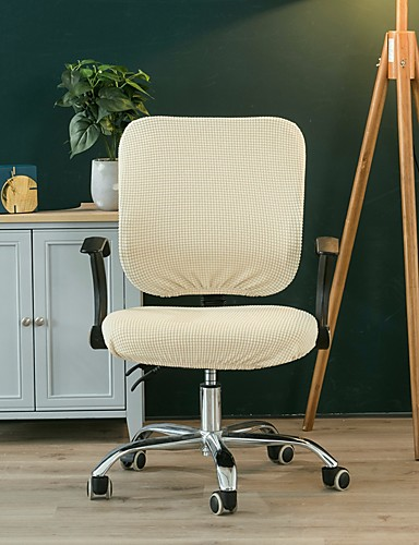 cheap Chair Cover-Solid Computer Office Chair Cover Split Protective & Stretchable Cloth Polyester Universal Desk Task Chair Chair Covers Stretch Thicken Rotating Chair Slipcover