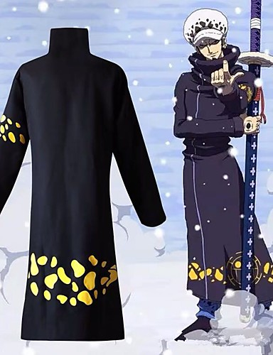 One Piece Cosplay Trafalgar Law Full Set Coat Hat Party Costume Clothes Party