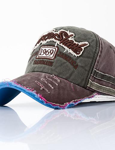 cheap Protective Equipment-Men's Women's Basic Cotton Baseball Cap-Color Block All Seasons Black Wine Blushing Pink