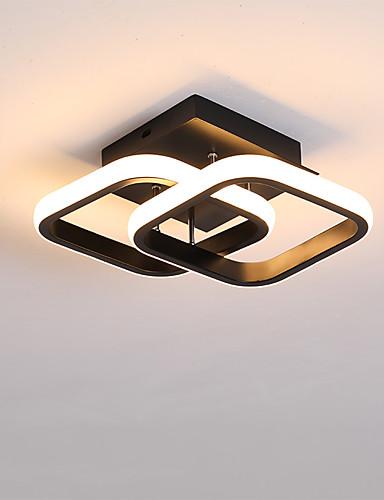 billige Taklamper-2-Light 24 cm Line Design Skyllmonteringslys Metall Moderne Stil Malte Finishes LED Moderne 110-120V 220-240V