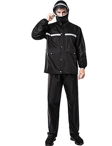 رخيصةأون ملابس واقية-رجالي معطف مطر لرياضة المشي في الهواء الطلق مقاوم للماء ضد الهواء معطف واق من المطر أزرق البحرية