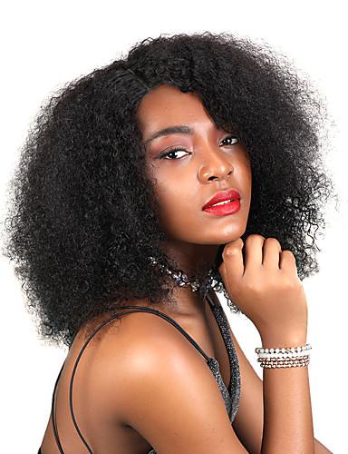 Children Kids Curly Wig Short Afro Wavy Wigs Brazilian Virgin Human Hair S