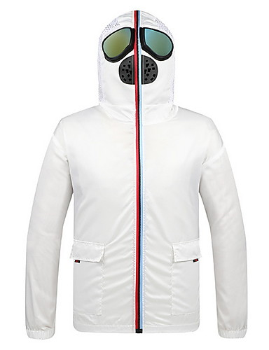cheap Protective Equipment-Men's Hooded Jacket Regular Solid Colored Daily Long Sleeve White Black US34 / UK34 / EU42 US36 / UK36 / EU44 US38 / UK38 / EU46