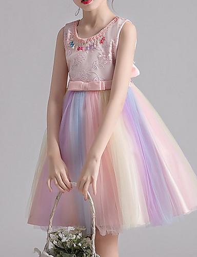 cheap Pre Sale-Kids Girls' Color Block Dress Blushing Pink