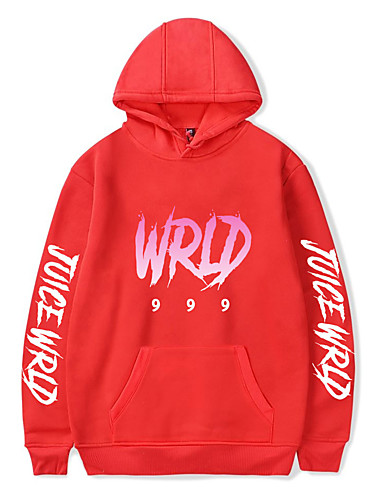 cheap Everyday Cosplay Anime Hoodies & T-Shirts-Inspired by Cosplay Juice Wrld Cosplay Costume Hoodie Pure Cotton Print Printing Hoodie For Men's / Women's