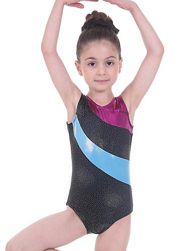 Gymnastics Leotards No Sleeves Gym dance Lycra Metallic FAST DELIVERY UK 005C