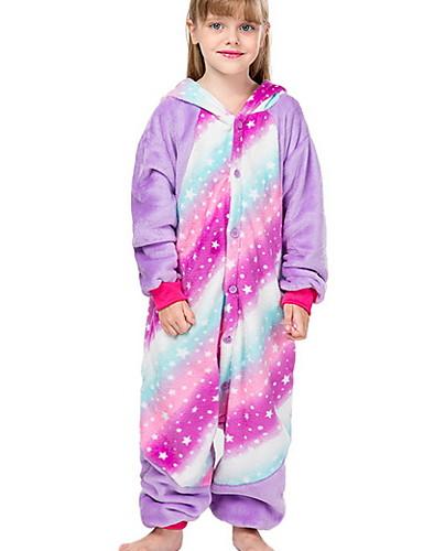 baratos Engrenagem do bebê-Infantil Para Meninas Férias Pijamas Fantasias Festival Animal Desenho Animado Roupa de Dormir Rosa