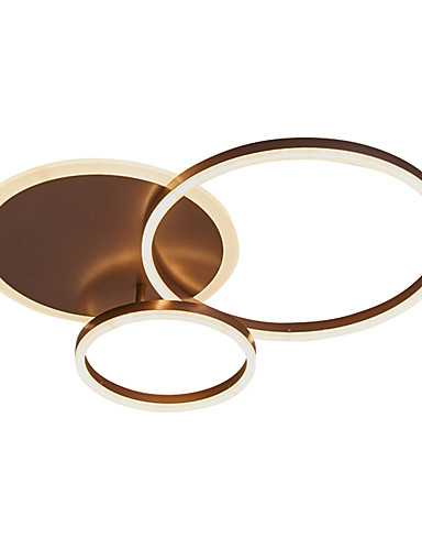 billige Anheng Lys-3-lys 65 cm klyngedesign / sirkel design innfelt lys metall akrylmalte finish moderne / nordisk stil 110-120v / 220-240v
