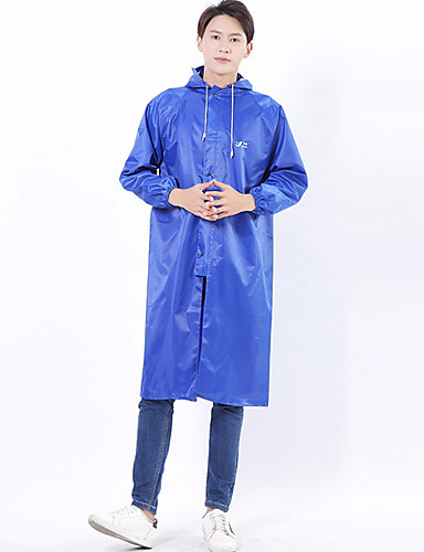 رخيصةأون ملابس واقية-رجالي معطف مطر لرياضة المشي في الهواء الطلق مقاوم للماء ضد الهواء معطف واق من المطر أخضر داكن / أزرق / أزرق بحري داكن