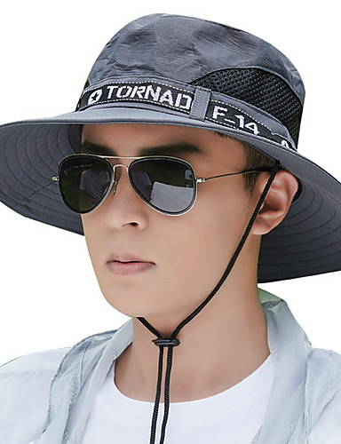 cheap Protective Equipment-Mens Quick Dry Neck Cover Sun protection Fishing Bucket Hat