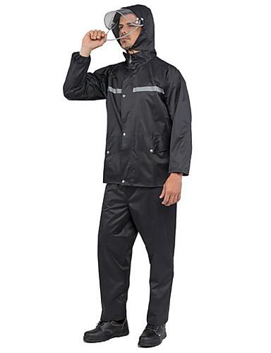 رخيصةأون ملابس واقية-رجالي معطف مطر لرياضة المشي في الهواء الطلق مقاوم للماء ضد الهواء معطف واق من المطر أسود