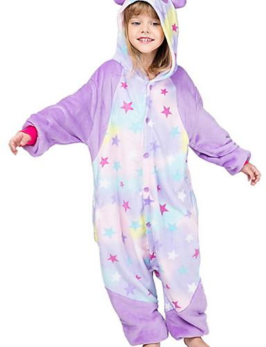 baratos Engrenagem do bebê-Infantil Para Meninas Pijamas Fantasias Feriado Festival Geométrica Animal Estrelas Roupa de Dormir Roxo