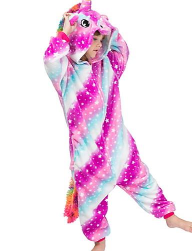 baratos Engrenagem do bebê-Infantil Para Meninas Pijamas Fantasias Feriado Festival Galáxia Unicórnio Animal Roupa de Dormir Roxo