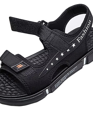 cheap Men's Shoes Hot Sale-Men's PU Summer Sandals Booties / Ankle Boots Blue / Black / Gray