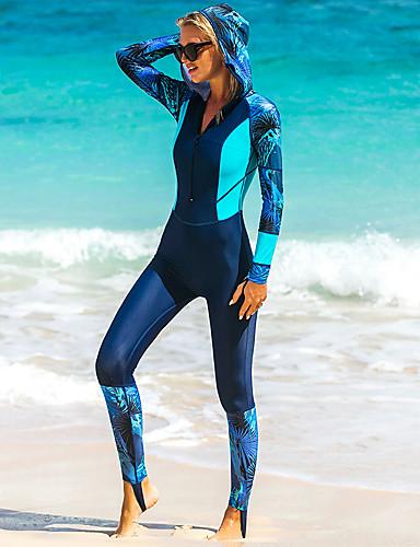 povoljno ljetni popust-SBART Žene Ronilačko odijelo kože Najlon Ronilačka odijela UV zaštitu od sunca Prozračnost Quick dry Kompletna maska Prednji Zipper - Plivanje Ronjenje Surfanje Kolaž / Visoka elastičnost