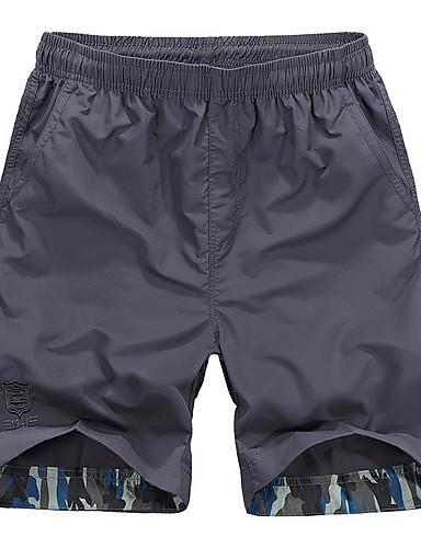 cheap Hiking Trousers & Shorts-Men's Hiking Shorts Outdoor Waterproof Breathable Quick Dry Ultra Light (UL) Shorts Bottoms Hunting Fishing Climbing Army Green Royal Blue Light Green M L XL XXL XXXL Loose / Wear Resistance