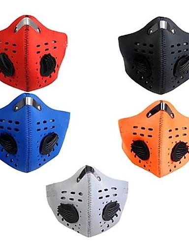 billige Ansiktsmaske-Vindtett Fort Tørring Sykkel / Sykling Rød Oransje Blå til Herre Dame Voksne Løp Reise Sykling 1pc / Maske / Maske