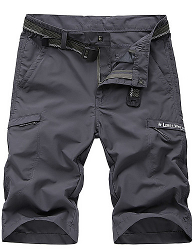 """cheap Hiking Trousers & Shorts-Men's Hiking Shorts Solid Color Summer Outdoor 12"""" Relaxed Fit Breathable Quick Dry Stretchy Sweat-wicking Shorts Bottoms Red Army Green Blue Grey Khaki Camping / Hiking Hunting Fishing L XL XXL XXXL"""